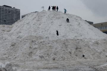 Boston snow mound