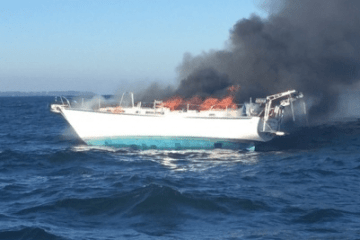 Northern Phoenix Yacht Fire Newport RI
