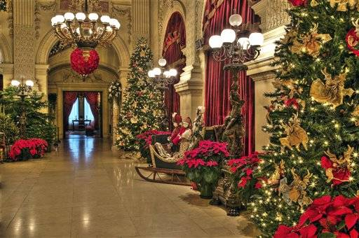 christmas at the newport mansions kicks off on november 19th newport buzz - Mansion Christmas Decorations