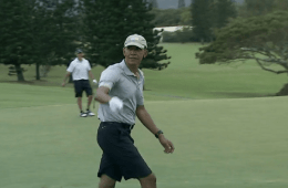 President Obama 40-foot chip