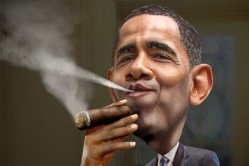 obama-cigar