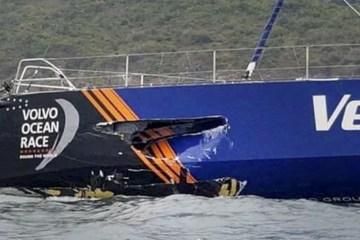 vestas volvo ocean race crash