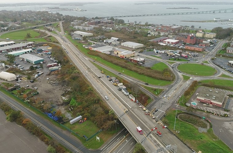 newport pell bridge realignment