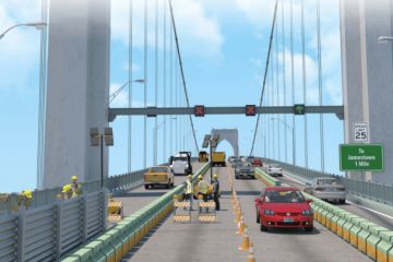Newport Bridge Traffic