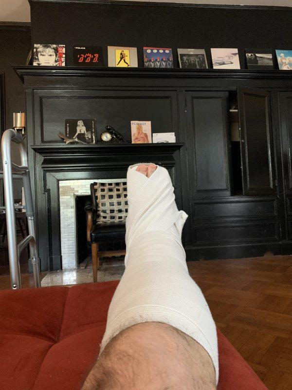 Christian Winthrop Broken Ankle