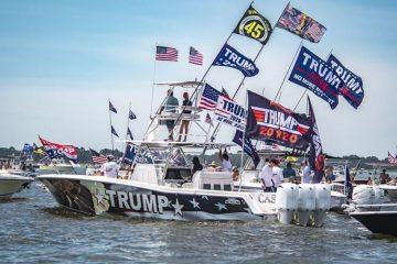 Trump Boat Parade Newport RI