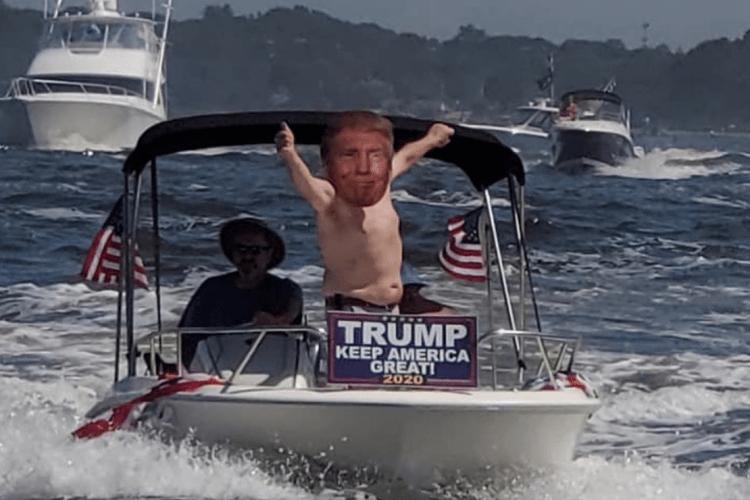 Trump Rhode Island labor Day Boat Parade