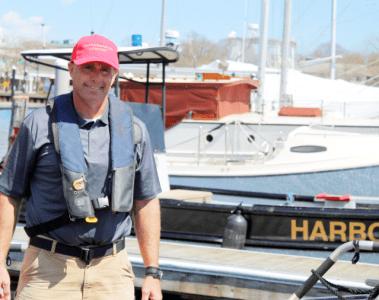 Harbormaster Stephen Land
