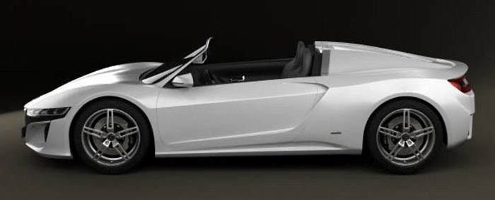 Acura Nsx Convertible S Wht1