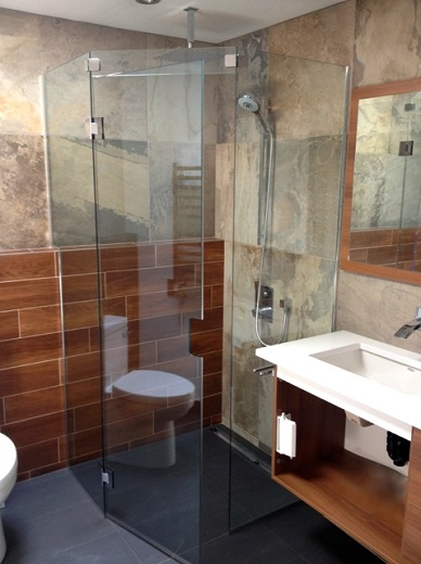 rhode island frameless shower door