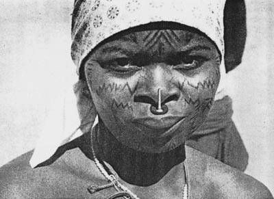 Makonde have in earlier times been famous for their stunning body piercing, tattoos and scarification