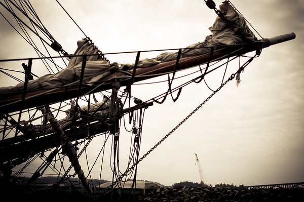 Sailing ship bowsprits