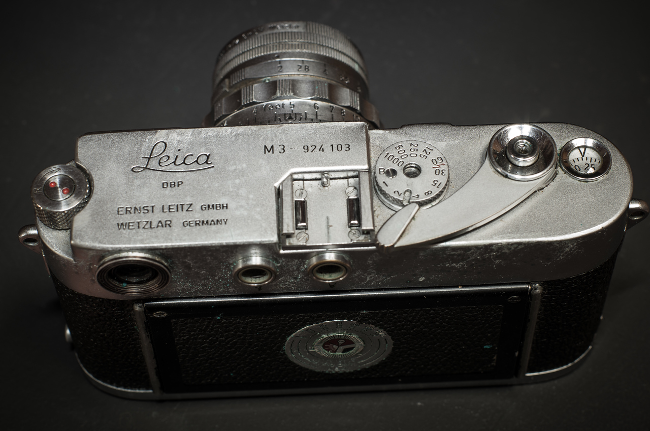 Leica M3, top view