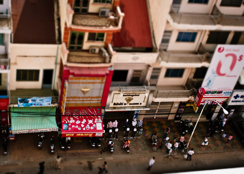 Street scene from Phnom Penh, Cambodia