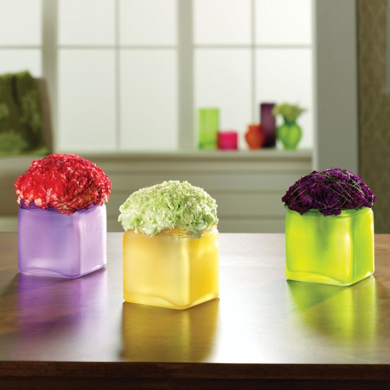 Assorted colors cubes