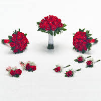 Red Roses Bridal set