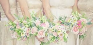 Bridal bouquets with roses