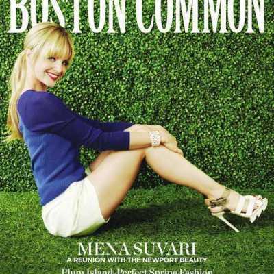Newport's Own Mena Suvari Graces Cover of Boston Common