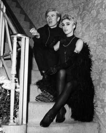 Edie Sedgwick with Any Warhol (from journeytothecenteroffashion.com)