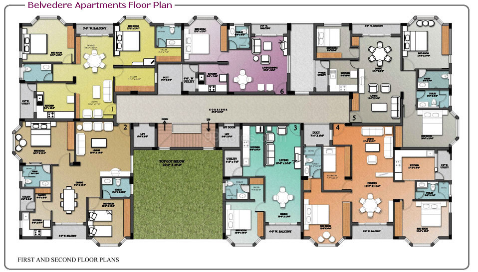 Nugget Estates Builders BELVEDERE Apartments Floor Plan  BELVEDERE Apartments Madinaguda Hyderabad