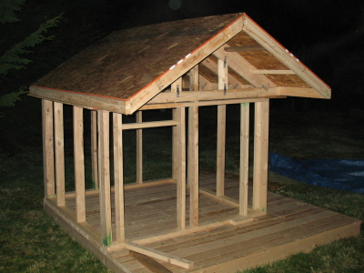 Pdf plans playhouse roof design download wood projects for Playhouse with garage plans