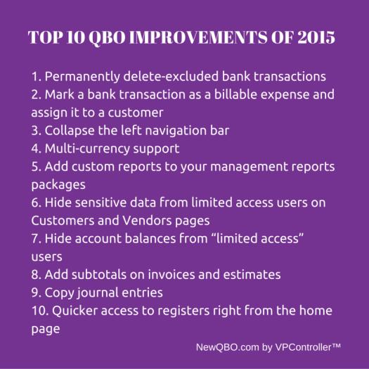 Top 10 QBO Improvements of 2015