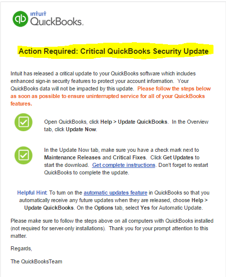 action required update email for dt