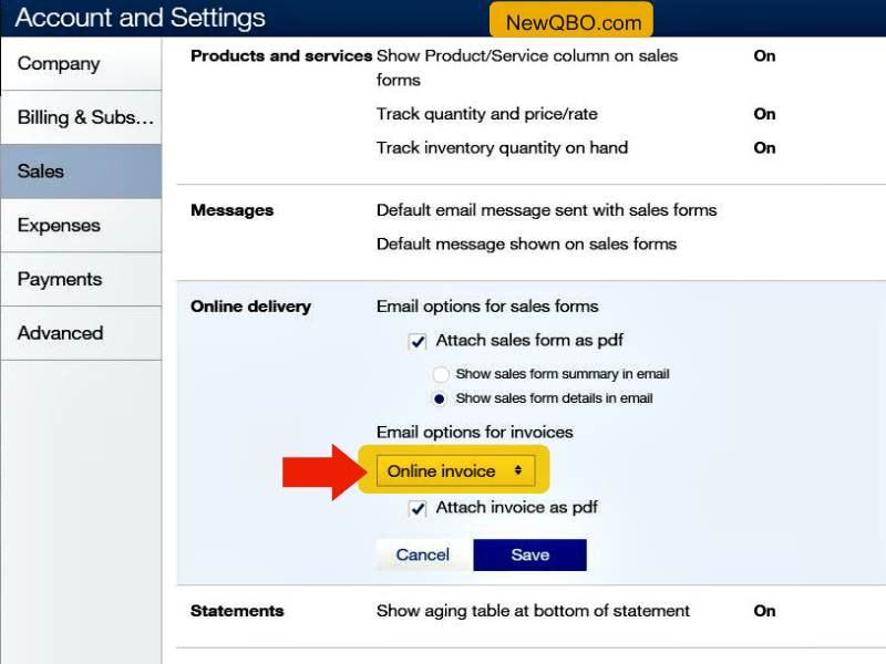 How To See Online Payment Selection Box On My Invoices I Already - Intuit invoicing online
