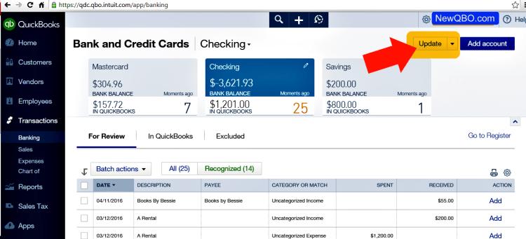 manual bank update