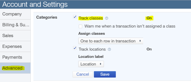 track-classes