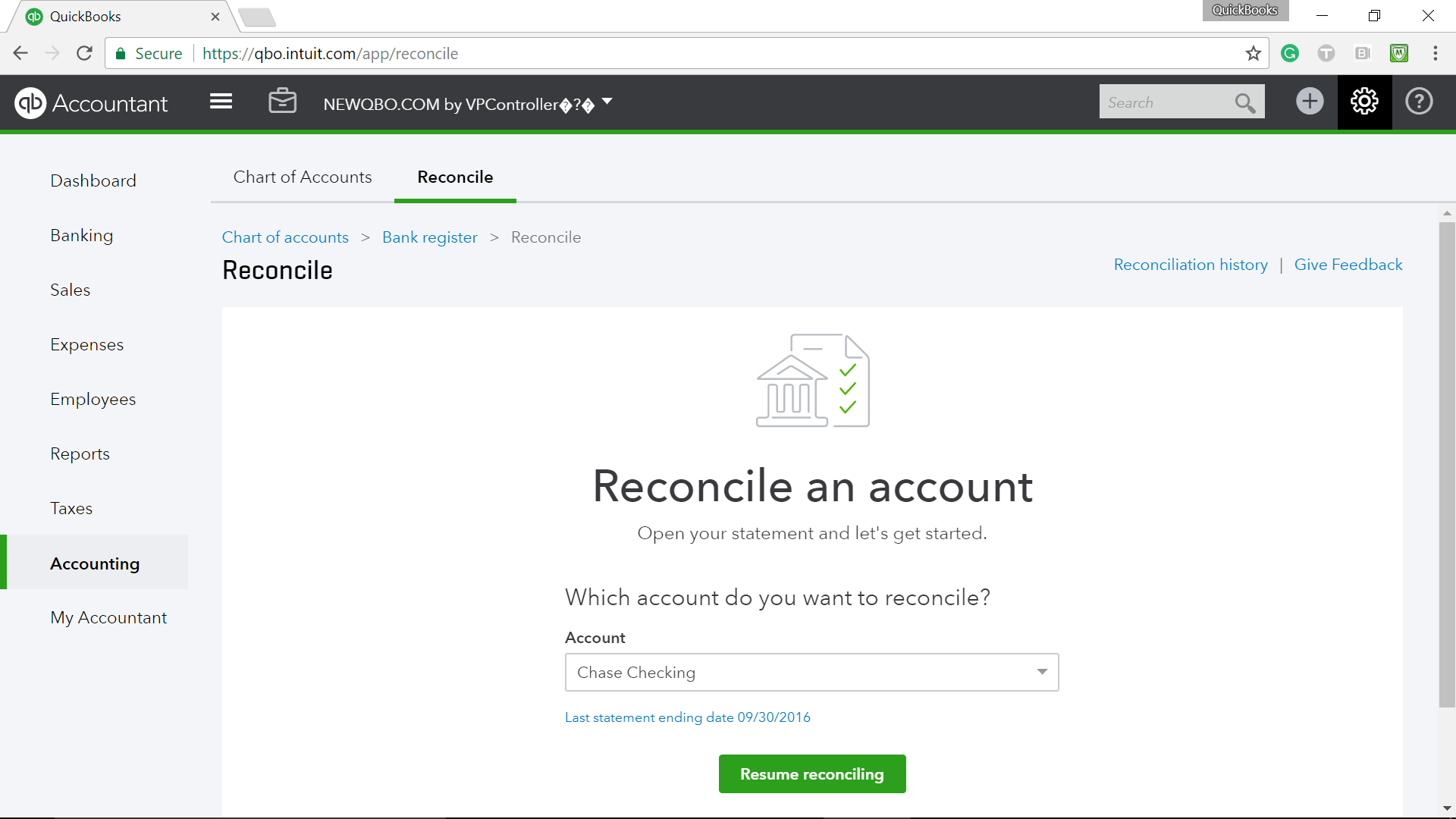 How to undo bank reconciliation in QuickBooks Online
