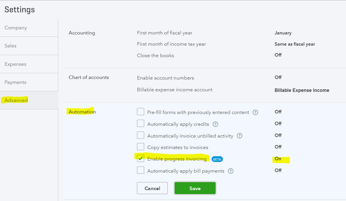Quickbooks Online Progress Invoicing Newqbo Com