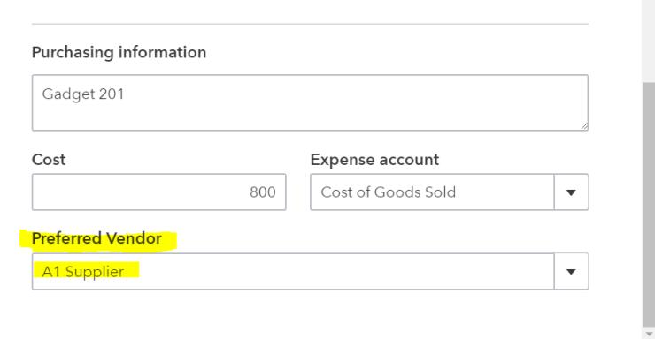 Preferred Vendor/Supplier