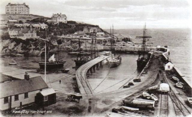 Newquay Harbour Postcard Old