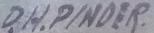 Douglas Pinder Signature DH Pinder