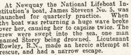 James Stevens Lifeboat Capsized, 1908