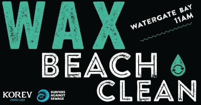 Watergate Bay Beach Clean Wax Watergate 5 November 2017