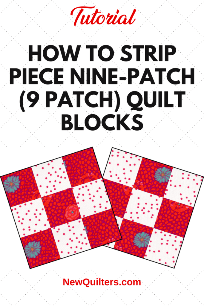 Diagram of two nine-patch quilt blocks