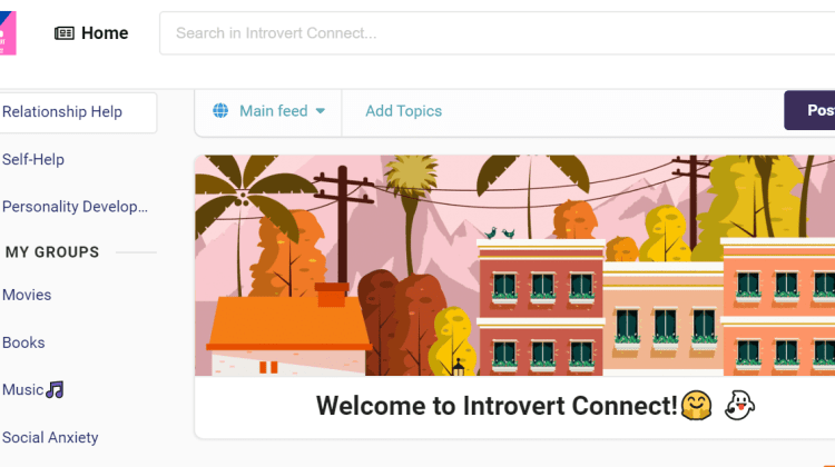 Introvert Connect Homepage
