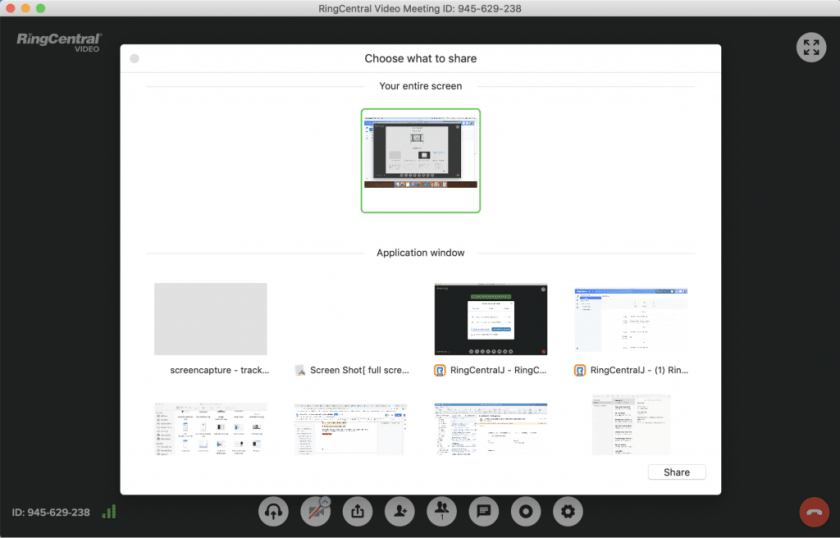 Screen sharing software for remote meetings