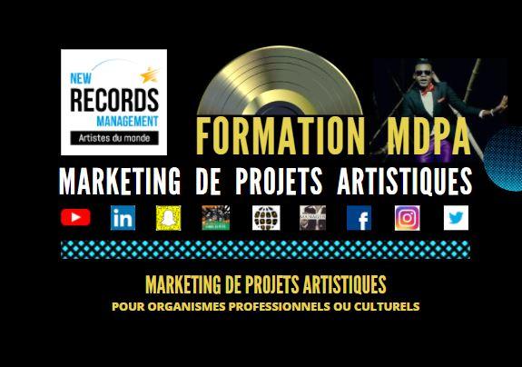 Cette Image représente la formation Marketing de projets artistiques créée par New Records management.