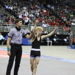 Lauridsen, Moomey and Burks competing in Mexico for Team USA.