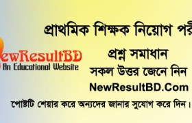 Primary Assistant Teacher DPE Question Solution 31 May 2019