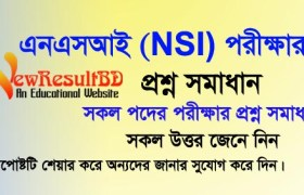 NSI Exam Question Solution 2019, Prime Minister's Office job circular NSI exam question solution, Bangla, English, Math, GK, NSI Question Solve, NSI Ques.
