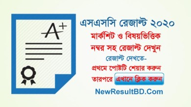 SSC Exam Result 2020 With Marksheet Subject Wise Marks & Grade
