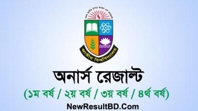 Honours Result 2020, NU Honours Exam Result, NU.AC.BD