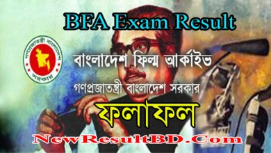 BFA Exam Result 2021