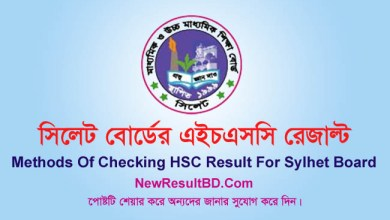 Sylhet Board HSC Result 2020 With Marksheet, All Methods of Checking HSC Result 2020 Sylhet Board. Subject wise number/grade/mark. EIIN, SMS