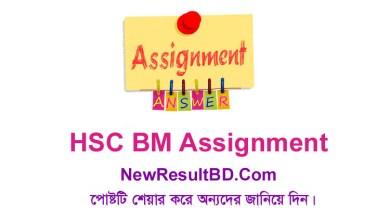 Class 11 & 12 HSC BM Assignment 2021