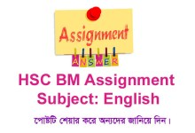 HSC BM English Assignment Answer